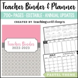 Pastel Teacher Binder
