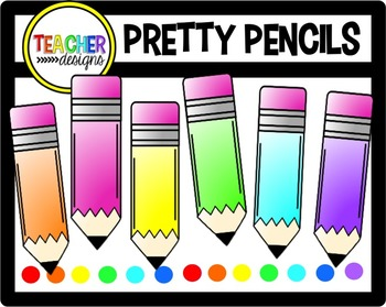 Pretty Pencils Clip Art