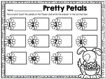 Pretty Petals {A Counting 0-20 Center} USA Version
