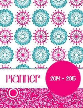 Pretty Pink Floral Teacher Planner and Organizer
