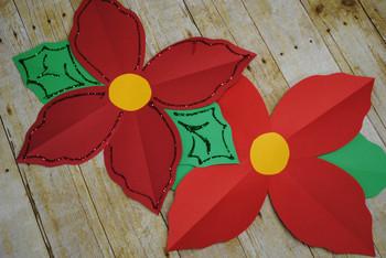 Pretty Poinsettias {A Christmas Craftivity}