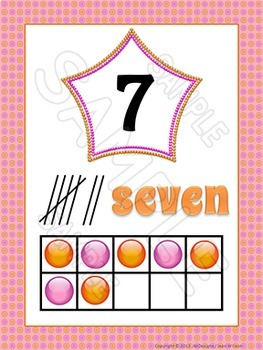 Numbers 1-20 Posters and Reference Cards with Tens Frames