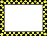 Pretty Polka Dot Borders/Frames