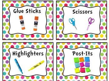 Pretty Polka-Dot Classroom Label Bundle Pack