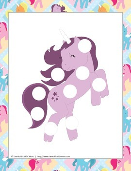 Pretty Ponies Dot a Dot Pack