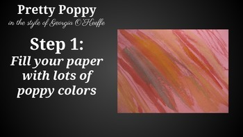 Pretty Poppies- A Mixed Media Artwork for Kids
