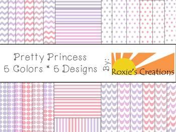 Pretty Princess Digital Paper Pack