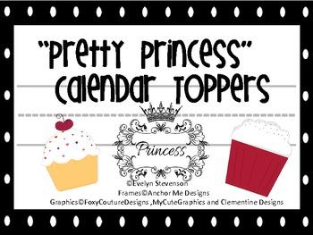 Pretty Princess Calendar Toppers