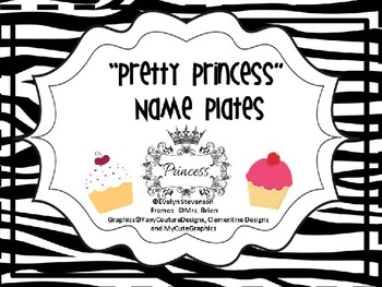 Pretty Princess Editable Name Plates