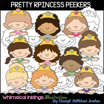 Pretty Princess Peekers Clipart Collection