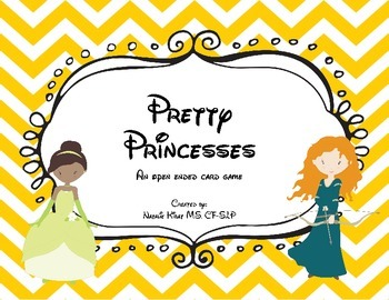 Pretty Princesses Open Ended Card Game