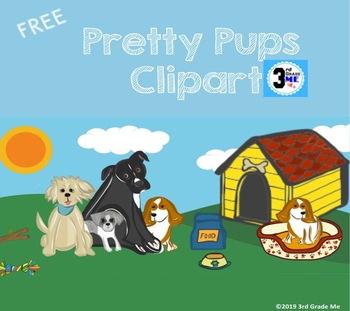 Pretty Pups Dog Clip Art -FREE!