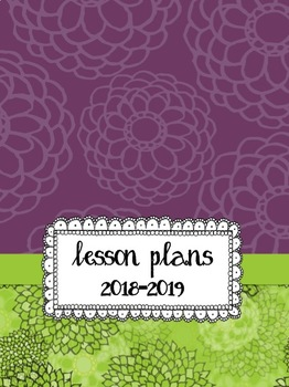 Pretty Purple & Lime Lesson Planbook - Customize It or Print and Go!