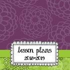Pretty Purple & Lime Lesson Planbook - Customize It or Pri