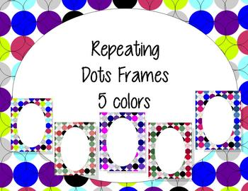 Pretty Repeating Dots Frames {personal & commercial use}