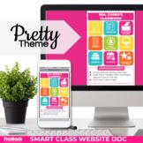 Pretty Smart Class Website Doc (Google Slides Style!)