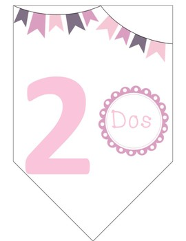 Pretty Spanish Counting: Gone Pink! Numbers 1-10/Numeros 1-10