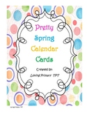 Pretty Spring Calendar Cards with birds