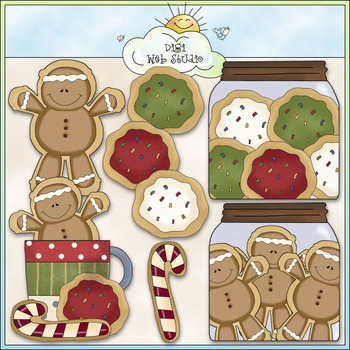 Pretty Sugar Cookies Clip Art - Christmas Clip Art - CU Colored Clip Art