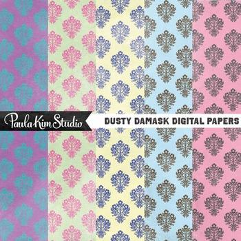 Digital Paper - Damask