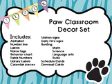 Pretty Tiger Paw Classroom Decor