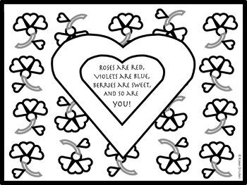 Pretty Valentine Coloring Page-