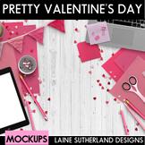 Pretty Valentine Styled Mockups {Desk Scenes}