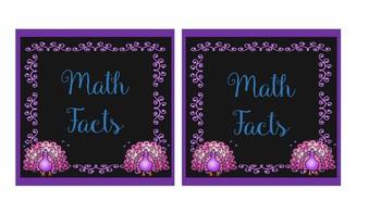 Pretty as a Peacock Math Center Labels!