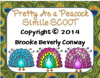Pretty as a Peacock Simile SCOOT