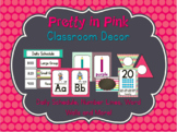 Pretty in Pink Classroom Decor ~ Labels, Number Lines, Word Wall and More!