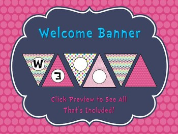 Pretty in Pink Welcome Banner