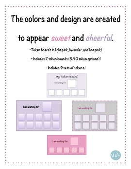 """""""Pretty in Pink (and Purple!)"""" Token Boards- Behavior Management Tool!"""