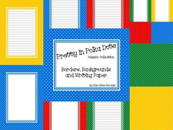 Pretty in Polka Dot - Borders, Background and Writing Paper (Classic Collection)