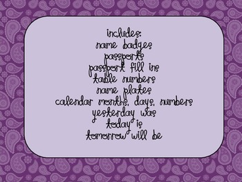 Pretty in Purple Paisley Welcome Pack