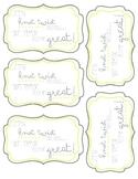 Pretzel Teacher Appreciation tags