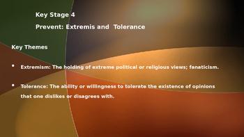 Prevent: Extremism and Tolerance (presentation/worksheets)