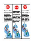 Prevent Summer Reading Slide Bookmarks