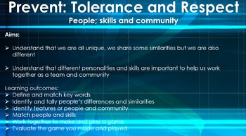 Prevent: Tolerance and respect -  People; skills and community