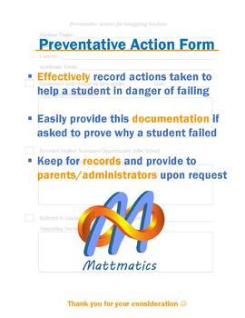 Preventative Action Form