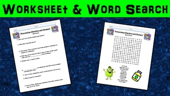 Preventing Infection/Disease No Prep Lesson w/ Power Point, Worksheet, and Bonus