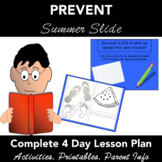 Preventing Reading Summer Slide - 4 Day Lesson Plan - Activities - 1st-4th Grade
