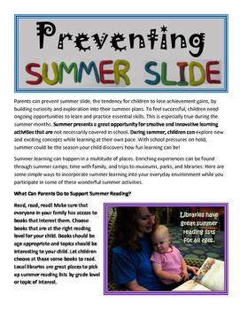 Preventing Summer Slide and Learning Loss