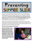 Preventing Summer Slide and Learning Loss