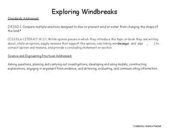 Preventing Wind Erosion- Testing Windbreaks