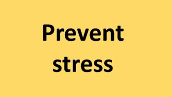 How do you handle stress?
