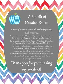 Preview - A Year of Number Sense