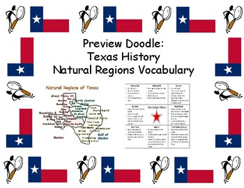 Preview Doodle: Texas History: Natural Regions Vocabulary