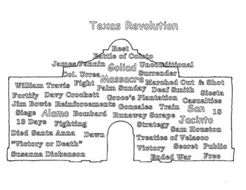 Preview Doodle Texas History: Revolution Vocabulary