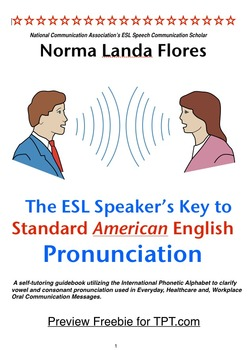 Preview Freebie of ESL Speakers Key to Pronunciation