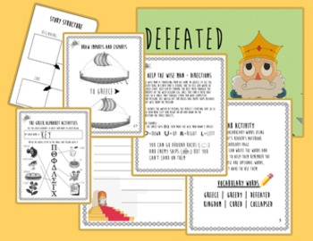 Preview: The Greedy King Classroom Activity Packet (Aristoddlers)